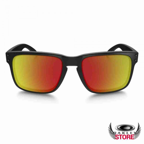 c8ae30329f Cheap Fake Oakley Holbrook Sunglasses Matte Black   Ruby Iridium ...