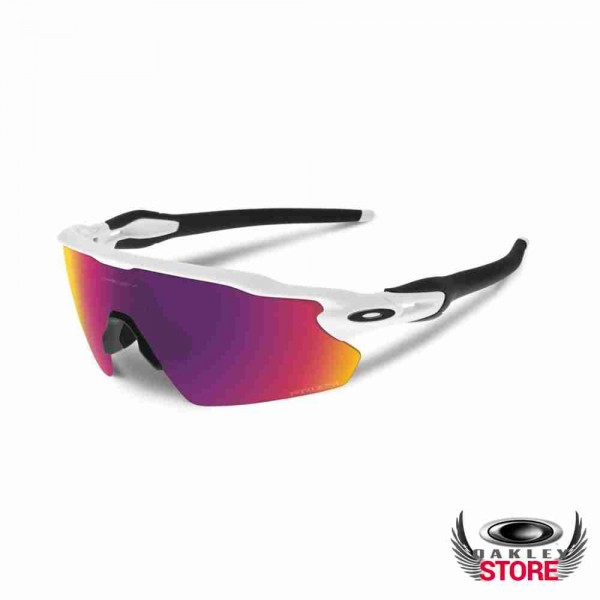 f437c69719db8 Cheap Fake Oakley Radar EV Path Polished White   Prizm Cricket Sale