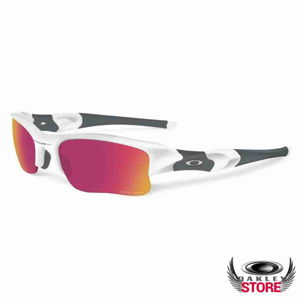 52c7d25be42 Cheap Fake Oakley Prizm Flak Jacket XLJ Sunglasses Polished White   Prizm  Baseball Infield Sale
