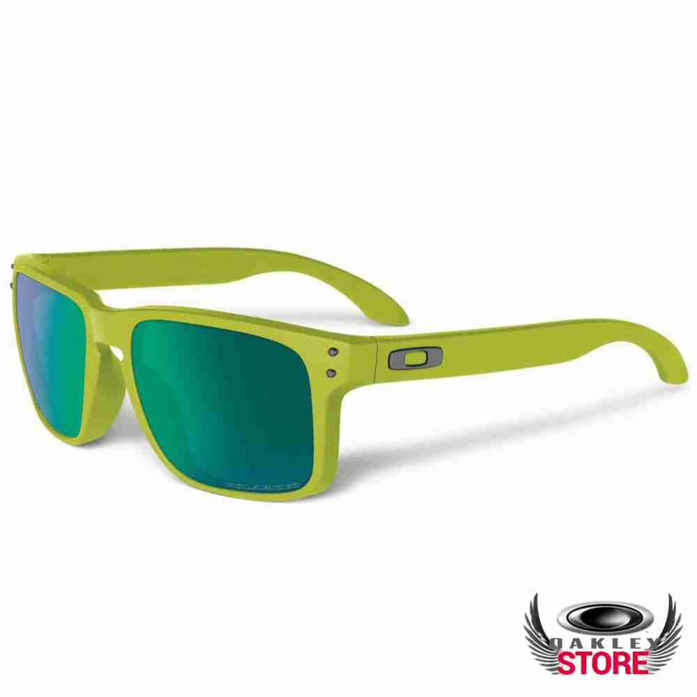 2eeb26e8a7 Cheap Fake Oakley Holbrook Sunglasses Matte Fern   Jade Iridium Polarized  Sale