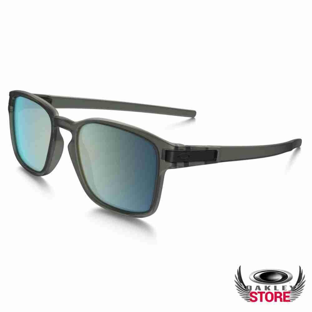 d45f71aae3 Cheap Fake Oakley Latch Squared Sunglasses Matte Olive Ink   Emerald Iridium  Sale
