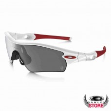 oakley sunglasses knockoffs  fake oakley radar path sunglasses polished white / black iridium